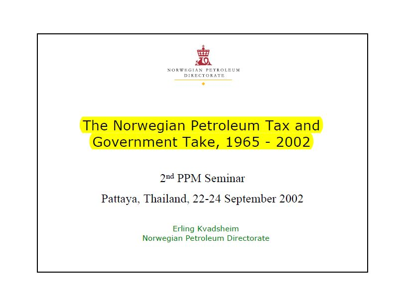the-norwegian-petroleum-tax-and-government-take-1965-2002